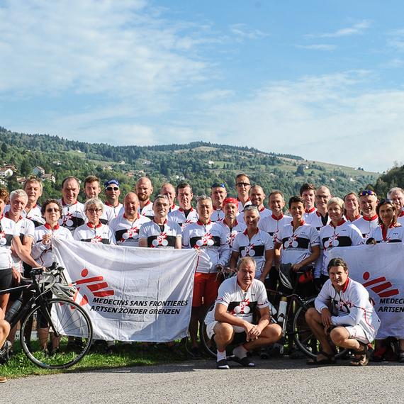 Cyclosporters naar de Vogezen voor Artsen Zonder Grenzen