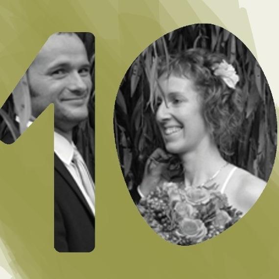 Maarten en Jessica zijn 10 jaar getrouwd